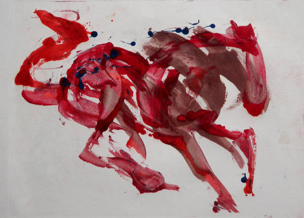 Painting - Japanese Horse by Laura Lee Cundiff