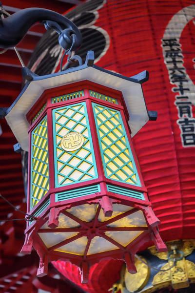 Buddhist Temple Wall Art - Photograph - Japanese Lantern - #1 by Stephen Stookey