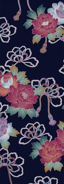 Kimono Digital Art - Japanese Modern Interior Art #34 by ArtMarketJapan