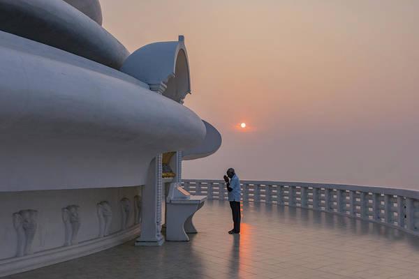 Japanese Pagoda Photograph - Japanese Peace Pagoda - Sri Lanka by Joana Kruse