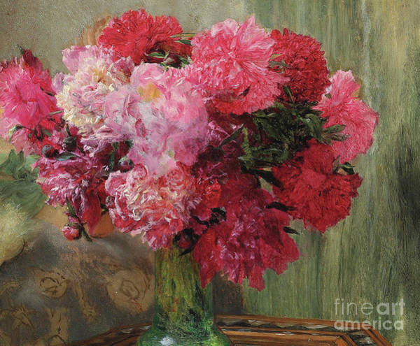 Painting - Japanese Peonies  Detail by Sir Lawrence Alma Tadema