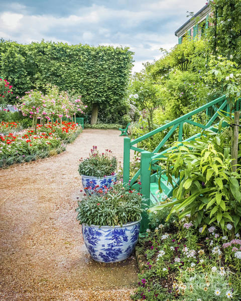 Claude Monet Photograph - Japanese Pots In Claude Monet's Garden, Giverny by Liesl Walsh