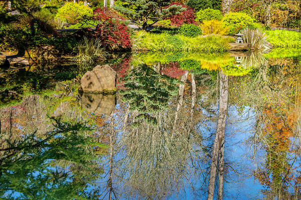 Photograph - Japanese Reflection Pond by Keith Smith