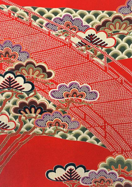 Wall Art - Tapestry - Textile - Japanese Style Genjigumo Modern Interior Art Painting by ArtMarketJapan