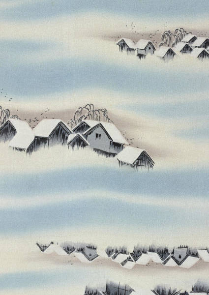 Country Style Painting - Japanese Style Snow Country Modern Interior Art Painting. by ArtMarketJapan