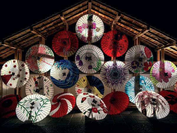 Wall Art - Photograph - Japanese Temple Umbrellas by Daniel Hagerman