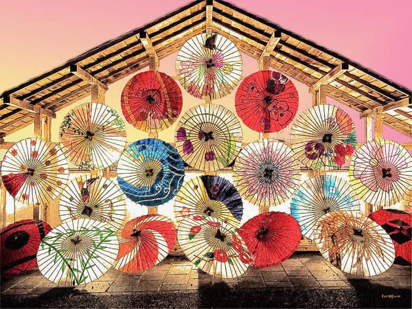 Photograph - Japanese Umbrellas by Ericamaxine Price