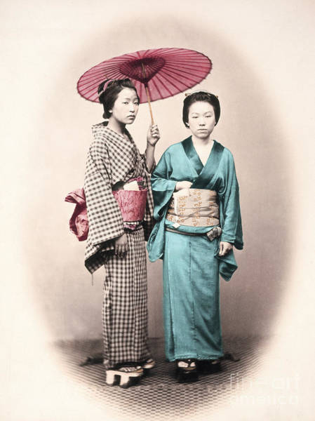 Wall Art - Photograph - Japanese Women by Delphimages Photo Creations