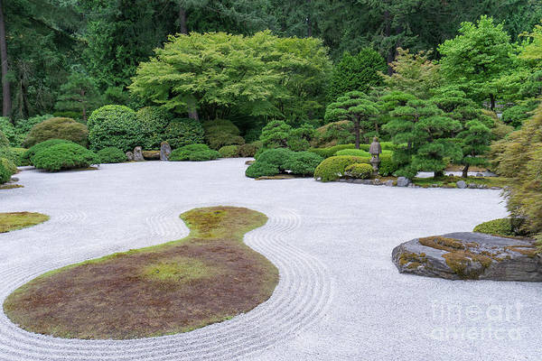 Wall Art - Photograph - Japanese Zen Rock Garden At Portland Japanese Garden Portland Oregon Dsc6628 by Wingsdomain Art and Photography