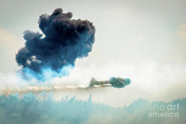 Japanese Zero Photograph - Japanese Zero Low Pass During A Dogfight by Rene Triay Photography