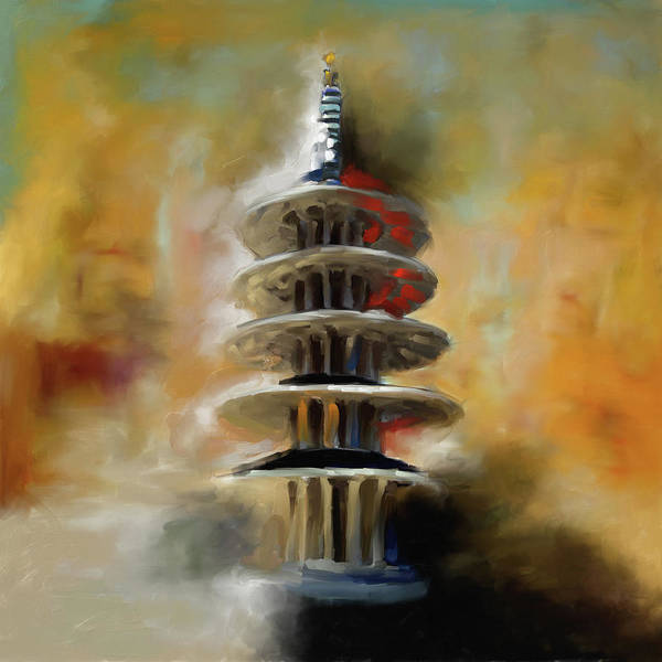 Chinatown Painting - Japantown San Francisco 558 1 by Mawra Tahreem