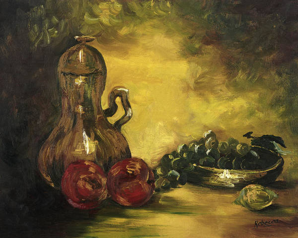Painting - Jar With Fruit by Rebecca Kimbel