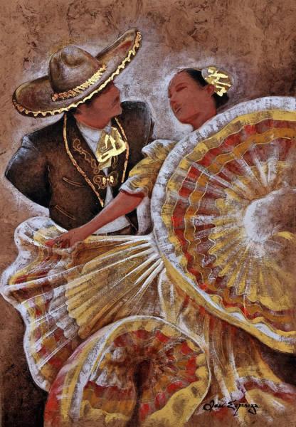Pintura Wall Art - Painting - Jarabe Tapatio Dance by J  - O   N    E