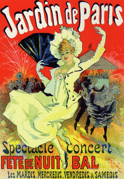 Fireworks Drawing - Jardin De Paris, Bal At The Champs Elysees by Jules Cheret