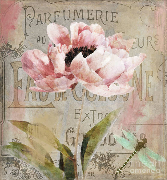 Paris Painting - Jardin Rouge I by Mindy Sommers