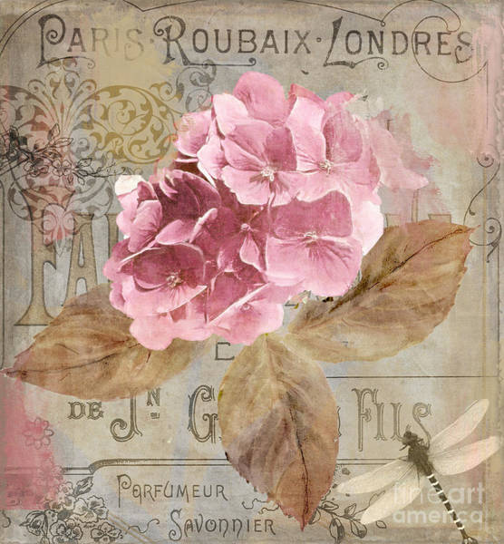 Paris Painting - Jardin Rouge II by Mindy Sommers