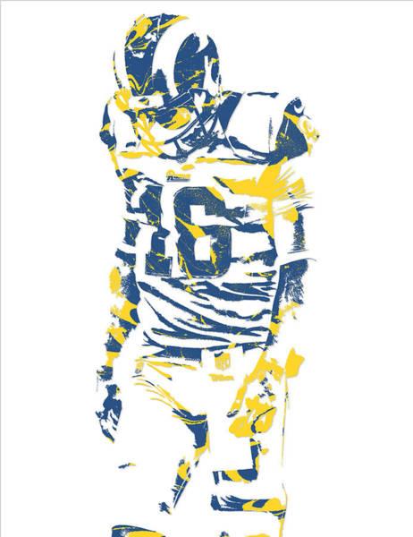 Jared Wall Art - Mixed Media - Jared Goff Los Angeles Rams Pixel Art 1 by Joe Hamilton