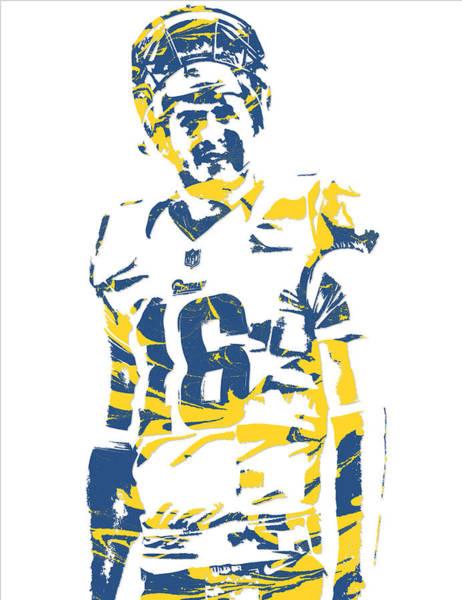 Jared Wall Art - Mixed Media - Jared Goff Los Angeles Rams Pixel Art 4 by Joe Hamilton