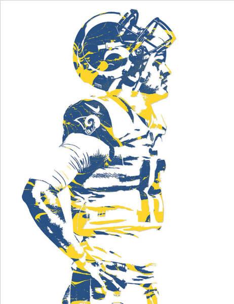 Jared Wall Art - Mixed Media - Jared Goff Los Angeles Rams Pixel Art 5 by Joe Hamilton