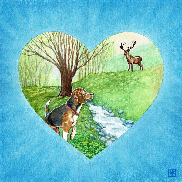Deer Mixed Media - Jared by Lisa Kretchman