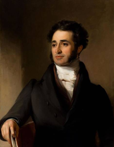 Jared Wall Art - Painting - Jared Sparks by Thomas Sully