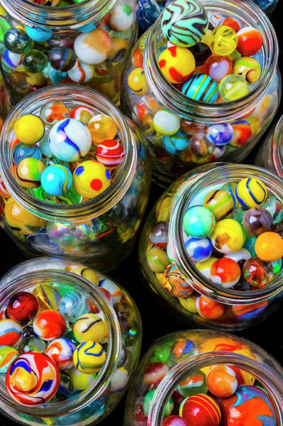 Wall Art - Photograph - Jars Full Of Pretty Marbles by Garry Gay