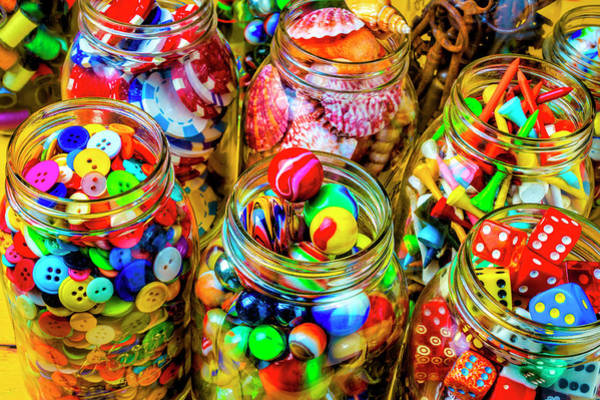 Wall Art - Photograph - Jars Of Everyday Objects by Garry Gay