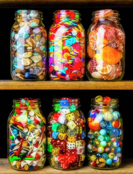 Wall Art - Photograph - Jars On A Shelf by Garry Gay