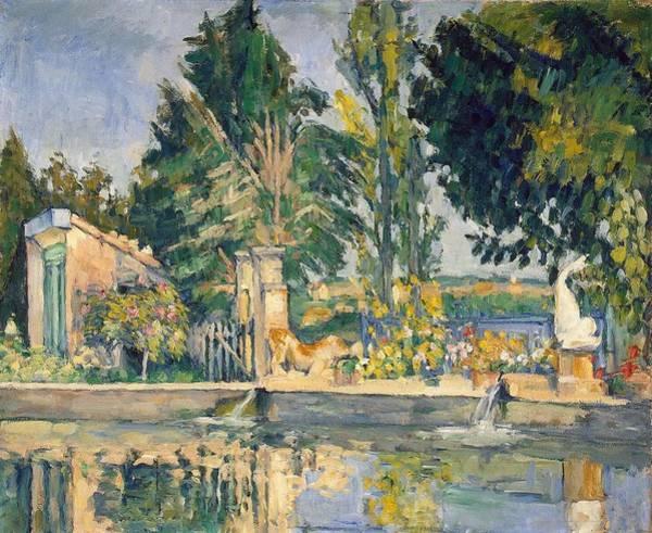 Painting - Jas De Bouffan The Pond by Paul Cezanne