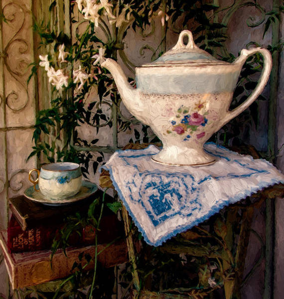 Jasmine Tea Photograph - Jasmine And Tea by John K Woodruff