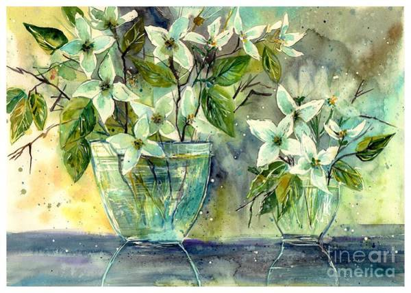 Wall Art - Painting - Jasmine In Glass by Suzann Sines