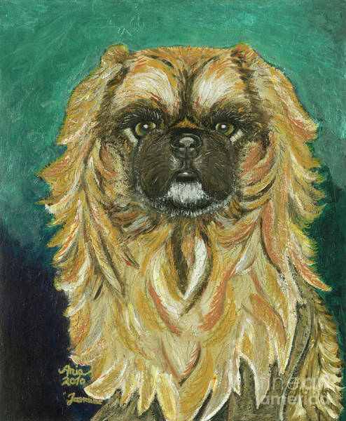 Painting - Jasmine The Pekingese Princess by Ania M Milo
