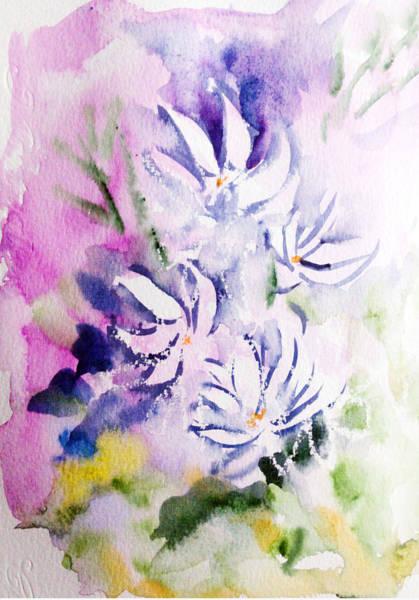 Painting - Jasmines by Asha Sudhaker Shenoy