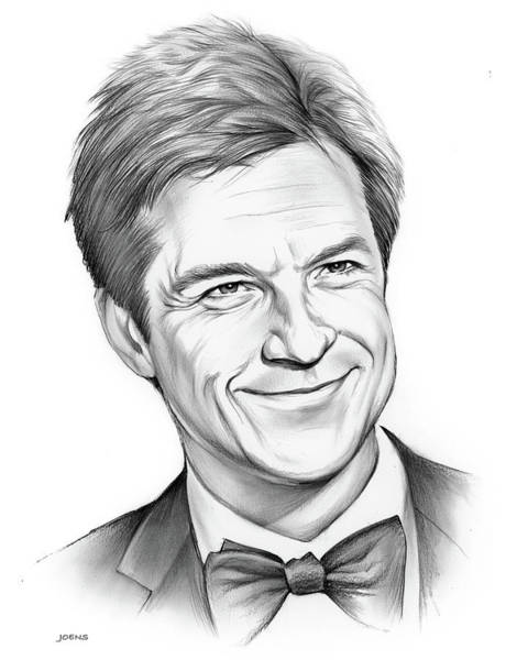 Jason Wall Art - Drawing - Jason Bateman 2 by Greg Joens
