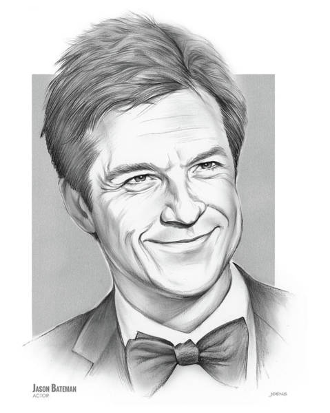 Actor Drawing - Jason Bateman by Greg Joens