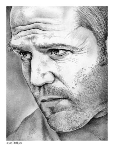 Jason Wall Art - Drawing - Jason Statham by Greg Joens