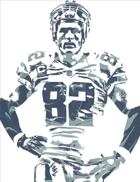 Super Bowl Mixed Media - Jason Witten Dallas Cowboys Pixel Art by Joe Hamilton