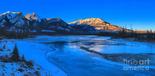 Photograph - Jasper Lake Frozen Sunset by Adam Jewell