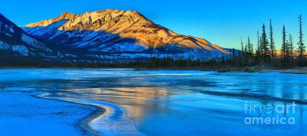 Photograph - Jasper Lake Icy Panorama by Adam Jewell