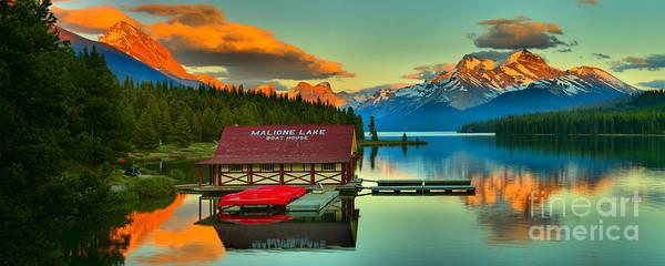 Photograph - Jasper Maligne Lake Panorama by Adam Jewell