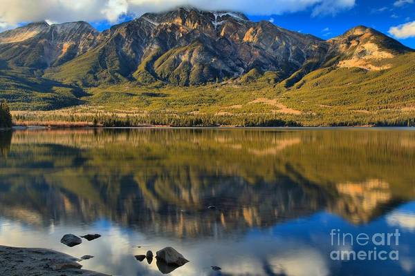 Photograph - Jasper Mountain Reflections by Adam Jewell