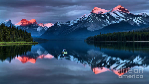 Photograph - Jasper Pink Peaks by Adam Jewell