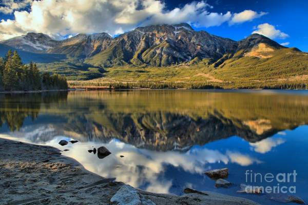 Photograph - Jasper Pyramid Lake by Adam Jewell