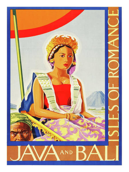 Java Painting - Java And Bali, Isles Of Romance, Vintage Travel Poster by Long Shot