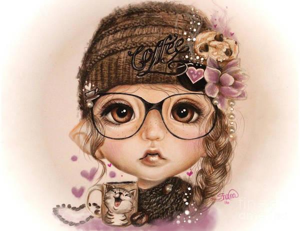 Imagination Drawing - Java Joanna by Sheena Pike