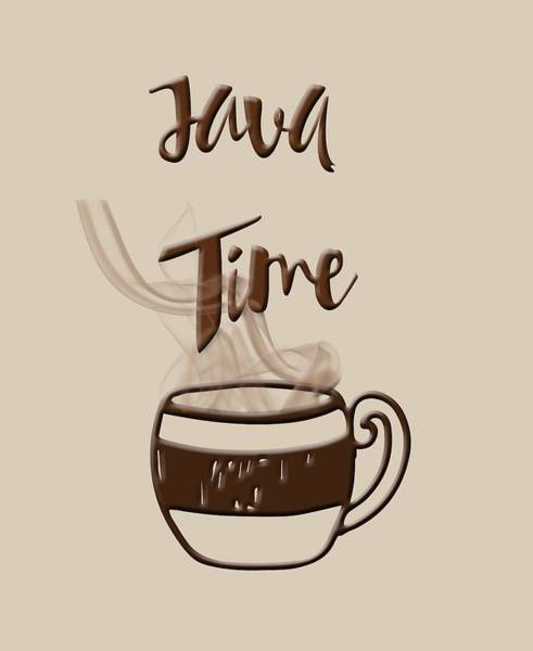 Photograph - Java Time - Steaming Coffee Cup by Joann Vitali