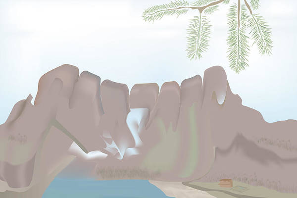 Digital Art - Jaw Mountain by Kevin McLaughlin