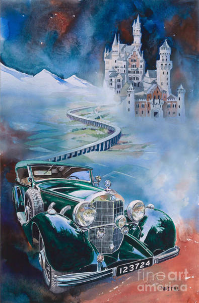 Car Show Painting - Jawohl Mercedes 500k by Mike Hill