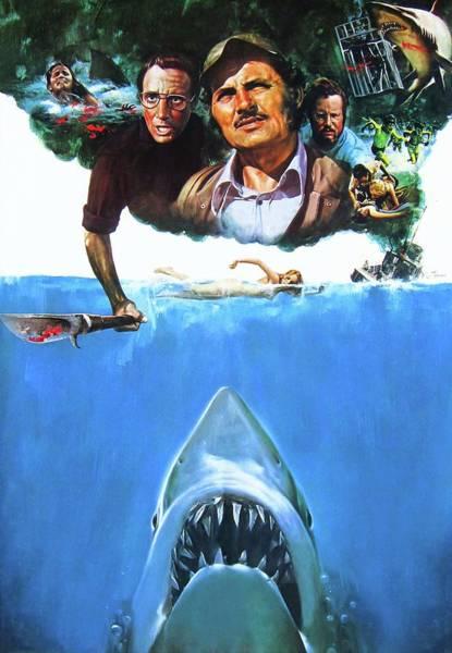 Television Digital Art - Jaws 1975  by Geek N Rock