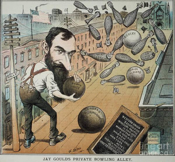 Photograph - Jay Gould Cartoon, 1882 by Granger